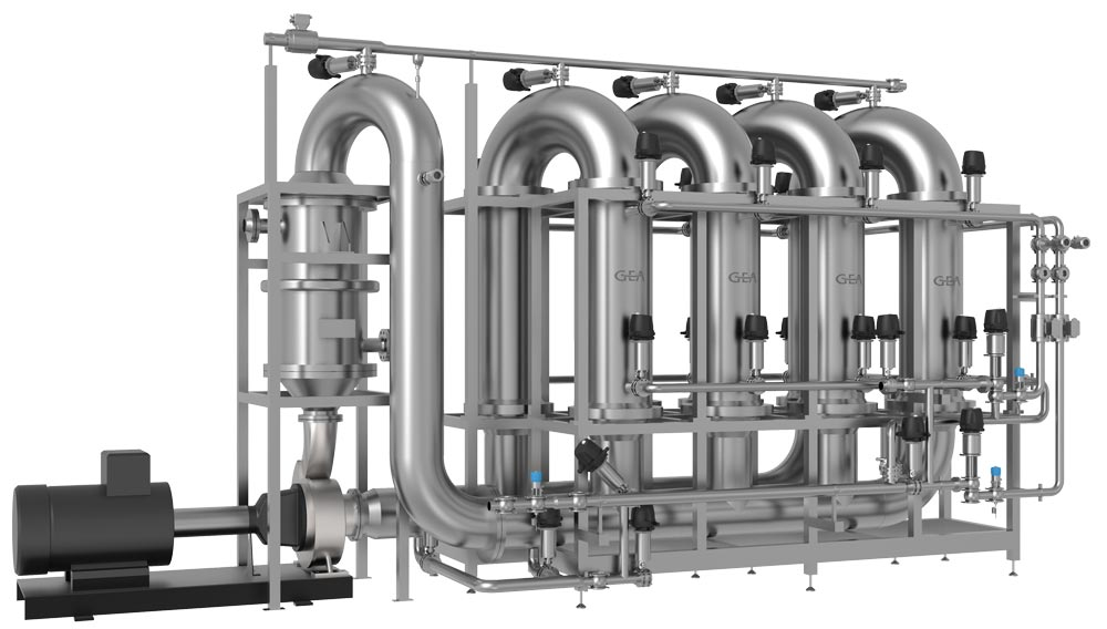 Rendering system for the GEA clearamic beer filtration (Photo: GEA)
