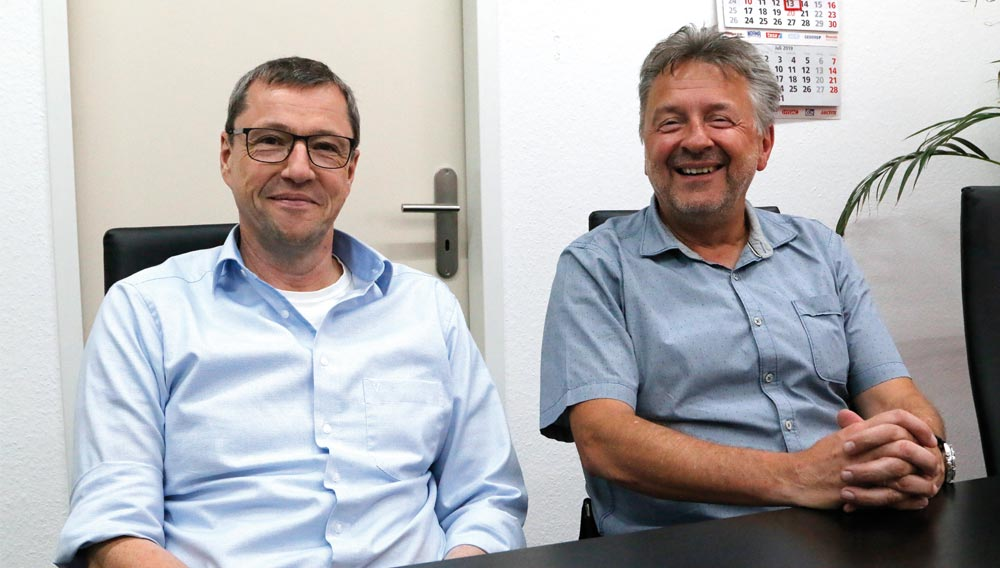 Martin Falkenstein and Johann Angres (right) manage the company today