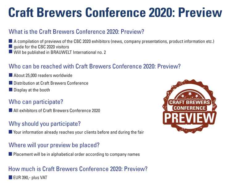 Media Data Craft Brewers Conference 2020: Preview
